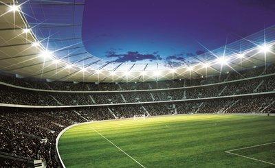 Voetbal behang Stadion 1 - Muurdeco4kids